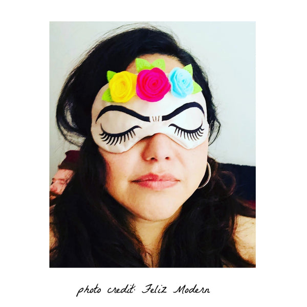 Frida Kahlo Lashes Sleep Mask with Roses