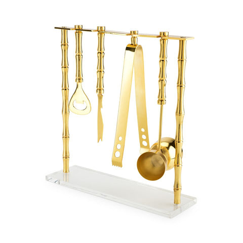 GOLD BAMBOO BAR SET
