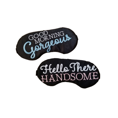 Good Morning Gorgeous & Hello There Handsome Sleep Mask Set