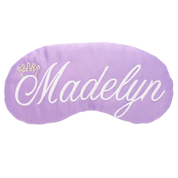 Customized Princess Eye Mask Lavender & White