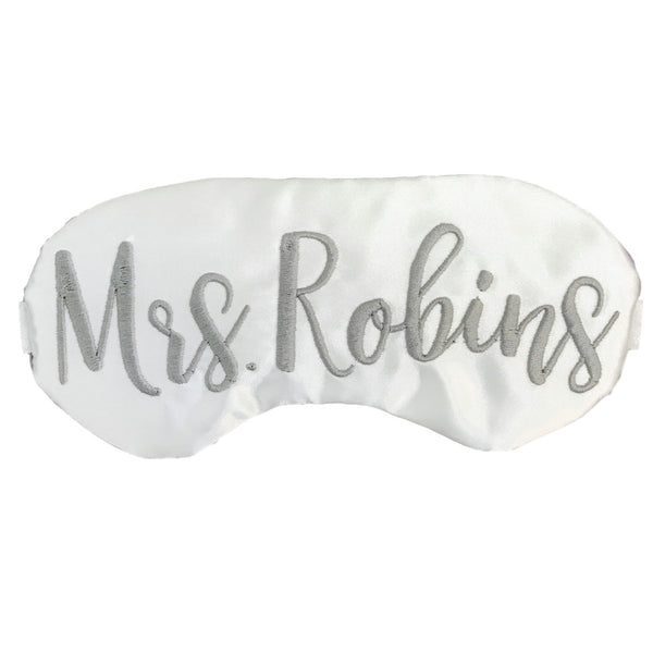 Personalized Bride Sleep Mask