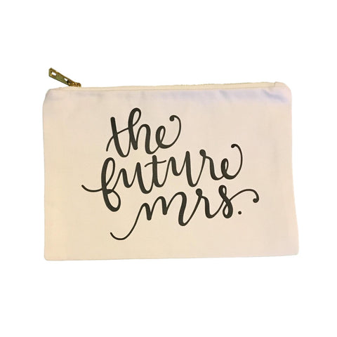 The Future Mrs. Canvas Zipper Bag