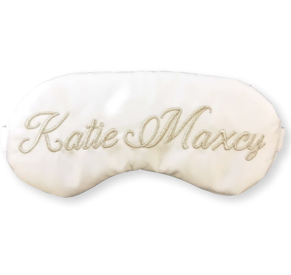 Elegant Personalized Bride Sleep Mask with Silver or Gold - Sleep Mask
