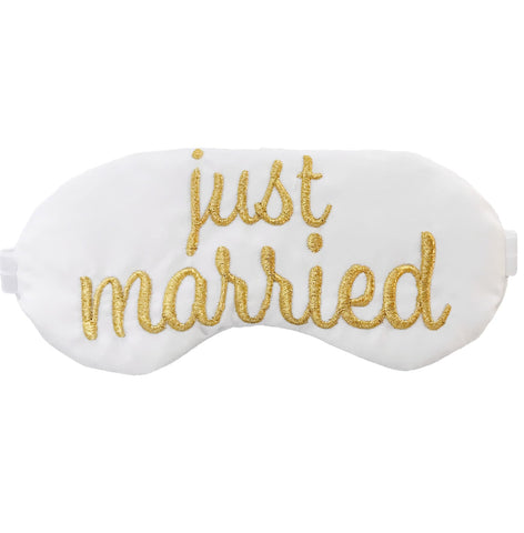 Just Married Eye Mask