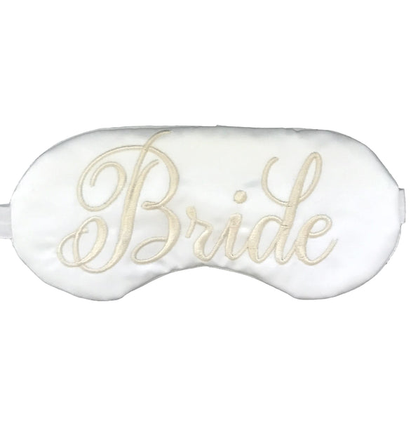Bride White On White Eye Mask
