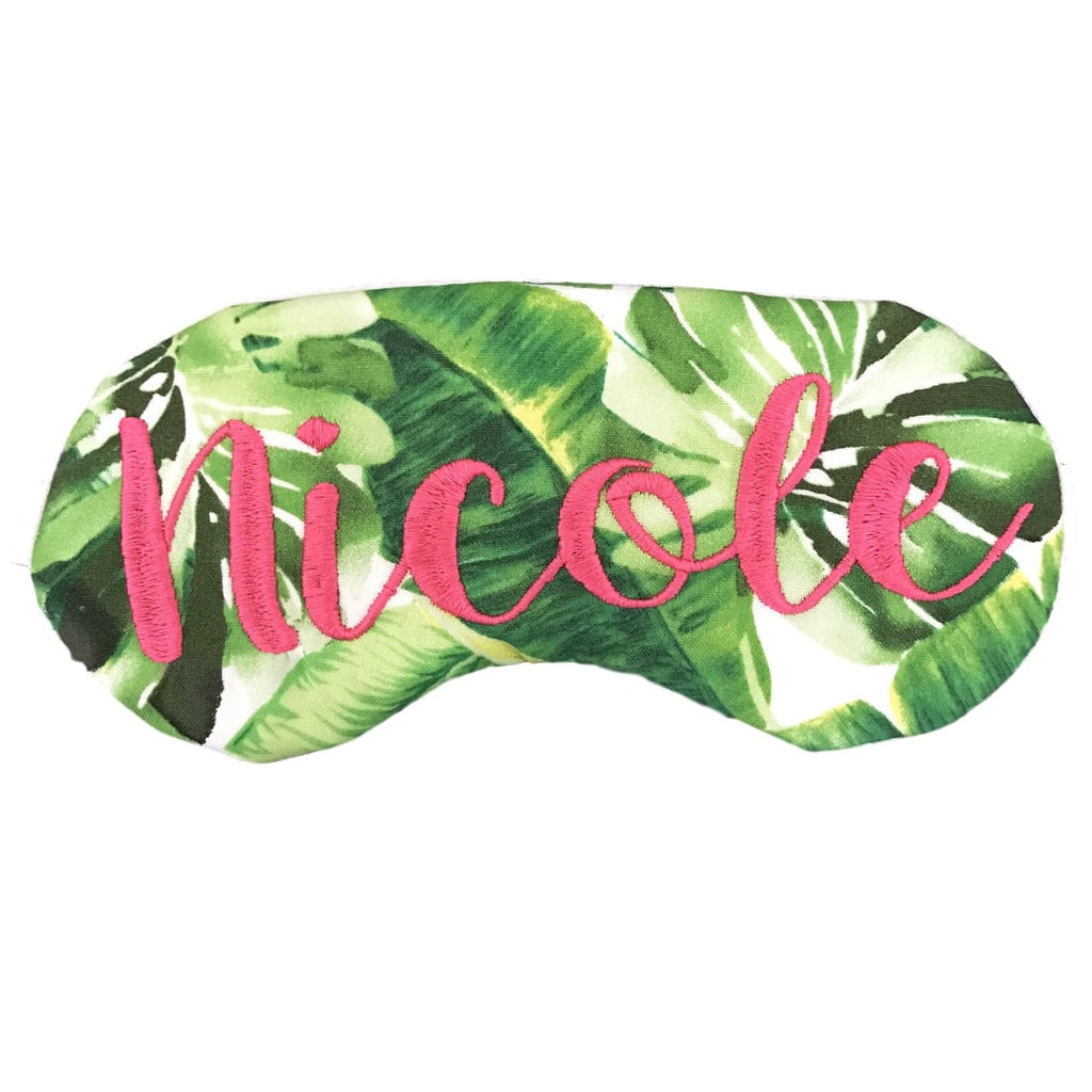 Personalized Palm Leaves Eye Mask