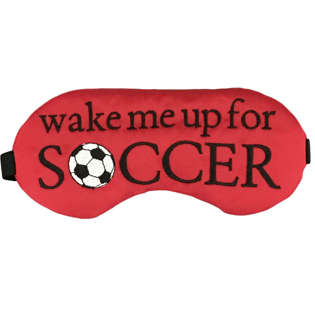 Wake Me Up For Soccer Eye Mask