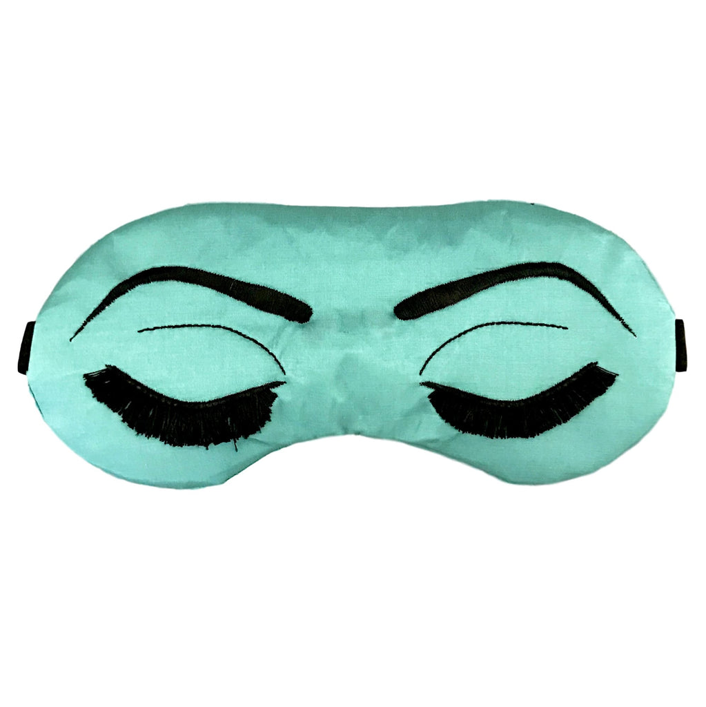 Natural Silk + Cotton Lined Breakfast At Tiffany's Eye Mask