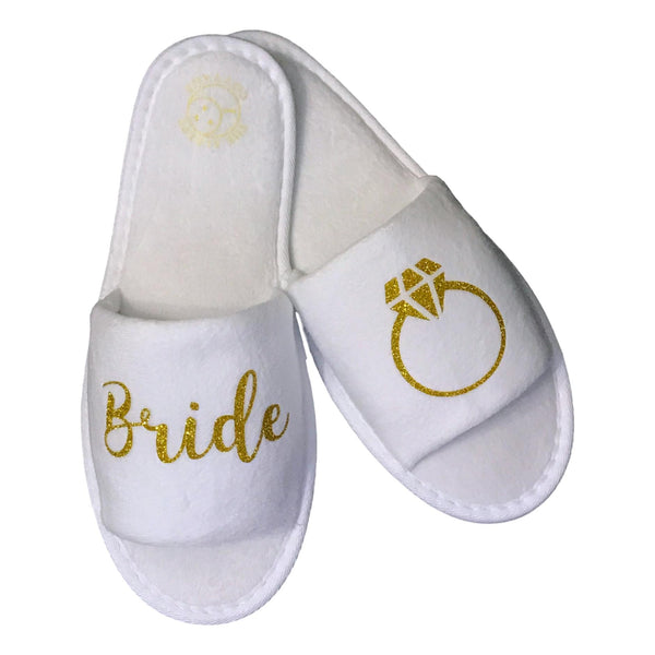 BRIDE'S RING SLIPPERS - GOLD