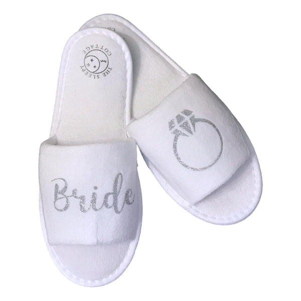 BRIDE'S RING SLIPPERS - SILVER
