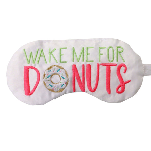 WAKE ME FOR DONUTS EYE MASK