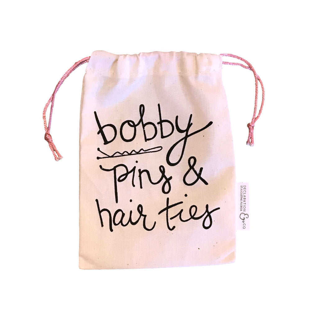 Bobby Pins and Hair Ties Bag