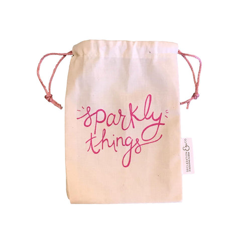 Sparkly Things Drawstring Bag