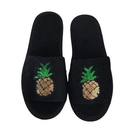 SEQUIN PINEAPPLE SLIPPERS