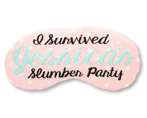 I SURVIVED SLUMBER PARTY EYE MASK