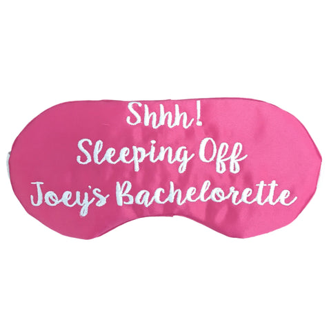 HOT PINK & WHITE - SHHH! SLEEP MASK