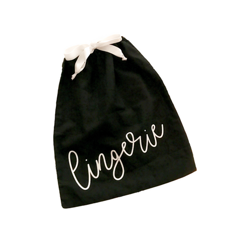 TRAVEL DRAWSTRING LINGERIE BAG