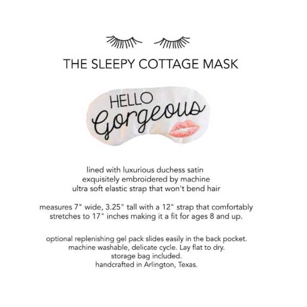 Wake Me In Morocco Sleep Mask
