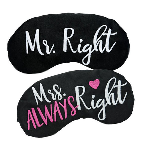 MR. RIGHT & MRS. ALWAYS RIGHT EYE MASK SET