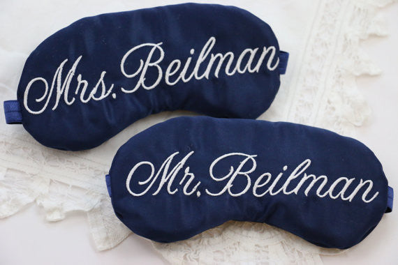 Mr. and Mrs. Personalized Sleep Masks