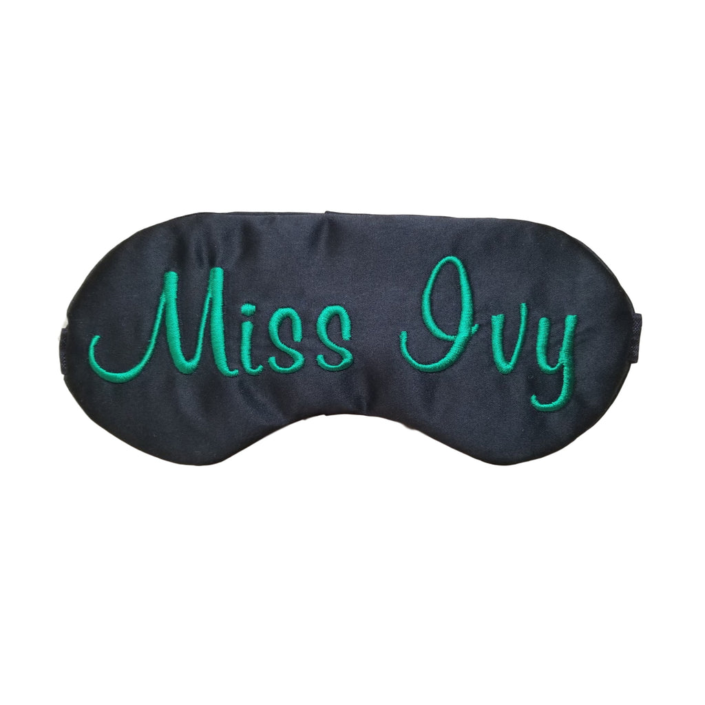 Personalized Sleep Mask in Lily Script