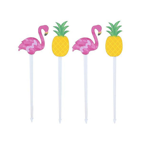 FLAMINGO + PINEAPPLE FOOD PICKS