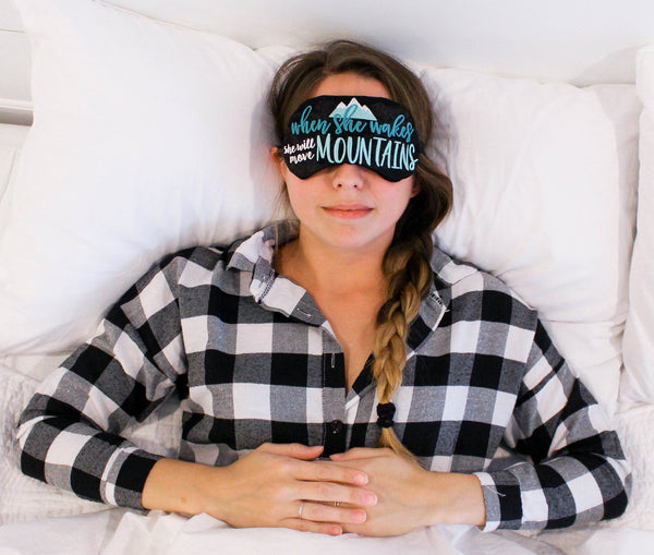 She Will Move Mountains Sleep Mask Designer Collaboration with Tilley's Threads  …