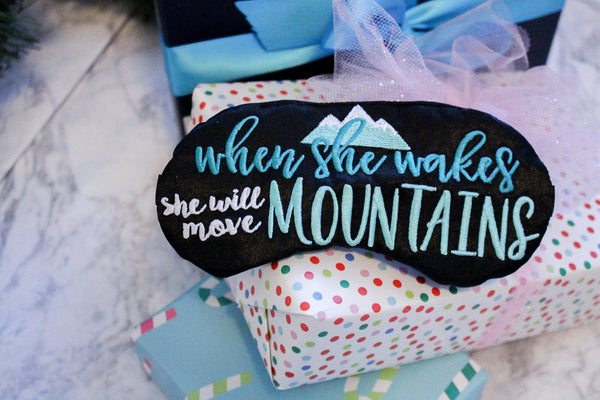 She Will Move Mountains Eye Mask