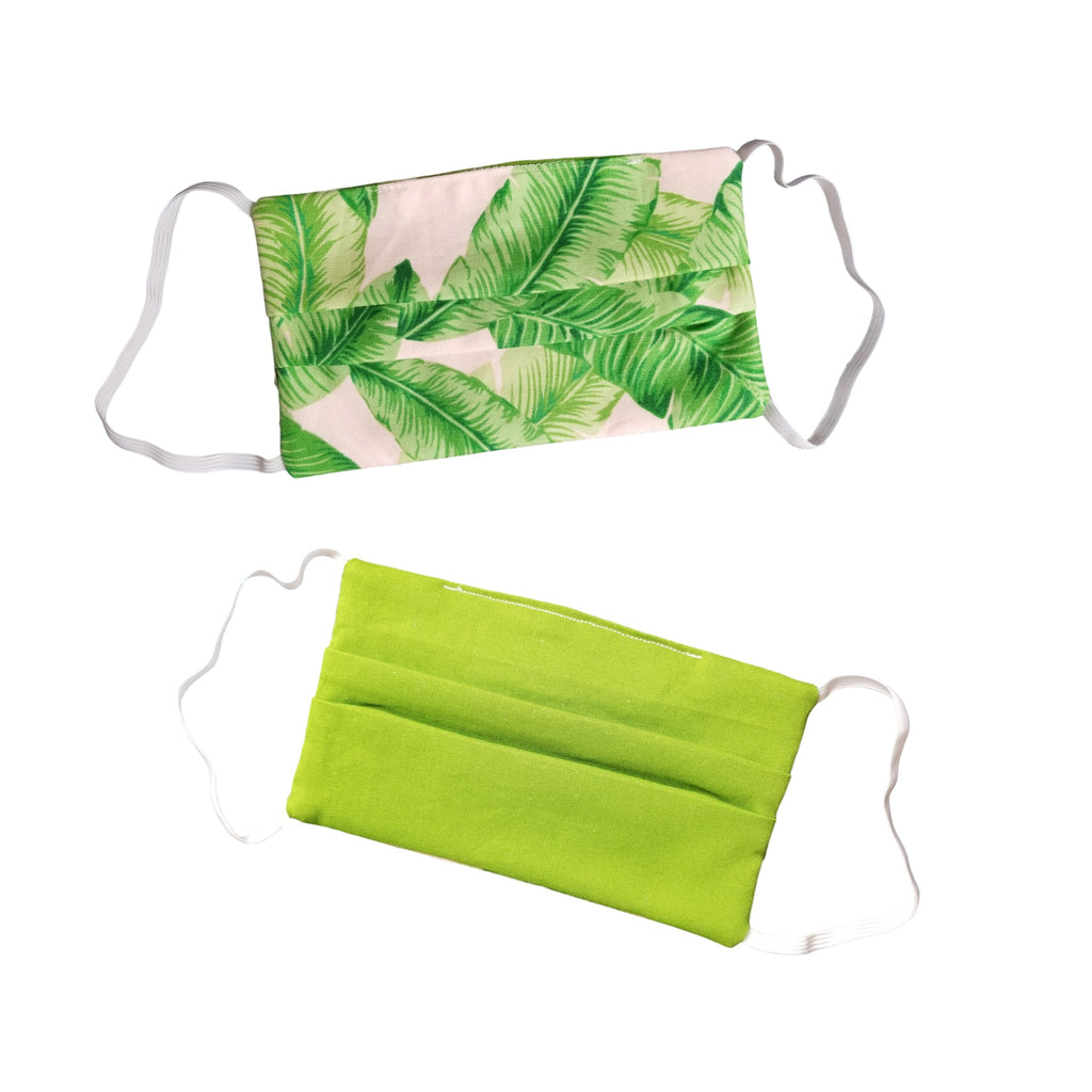 Tropical Leaves Reusable & Reversible Face Mask