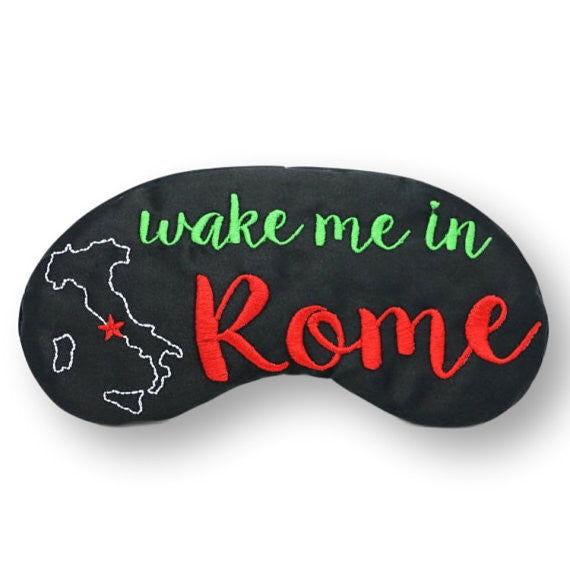 Wake Me In Rome Eye Mask