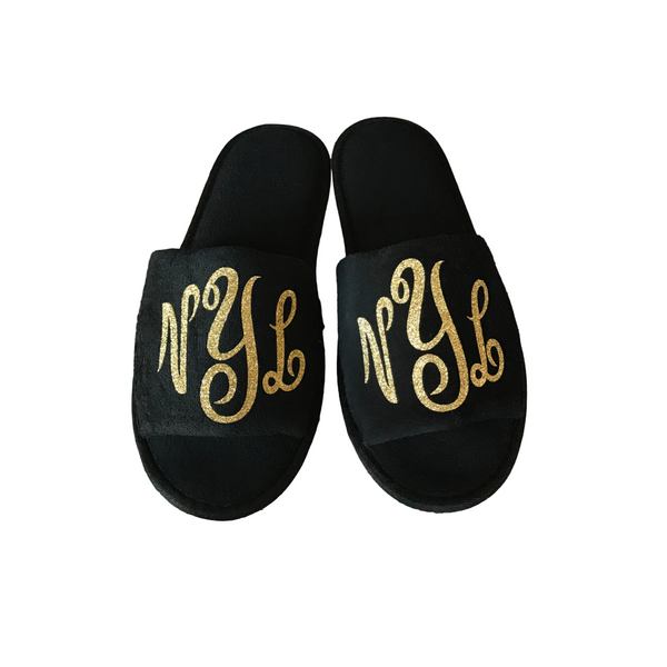 Tiffany 3 Letter Monogram Slippers