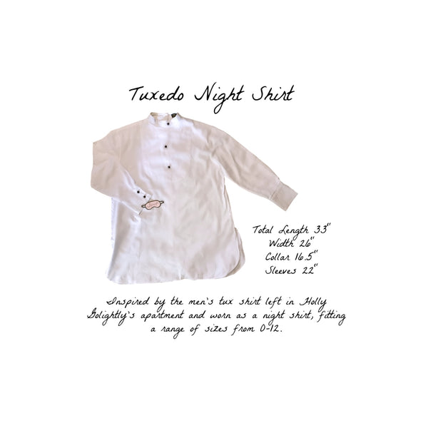 BREAKFAST AT TIFFANY'S TUXEDO NIGHT SHIRT