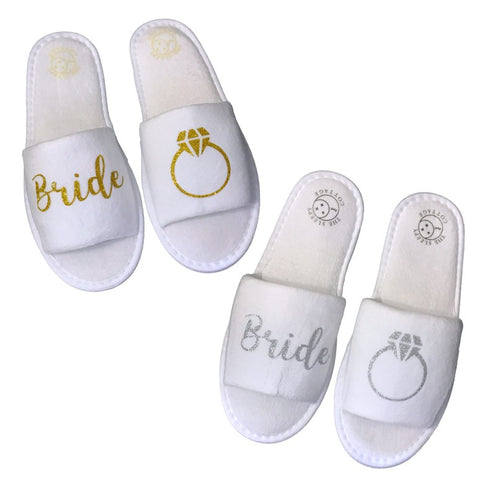 Bride's Ring Slippers
