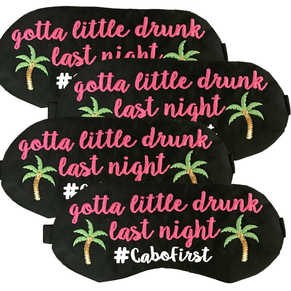 Personalized Palm Tree Party Sleep Masks