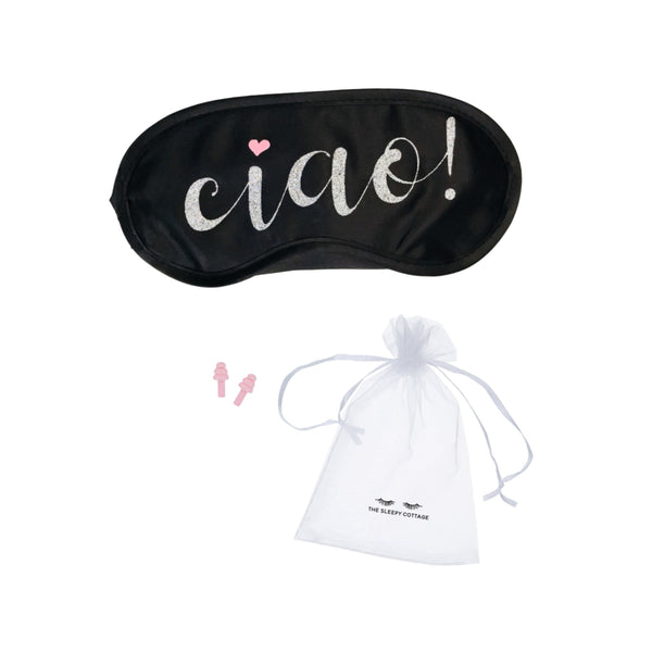 Shimmering Ciao! Sleep Mask
