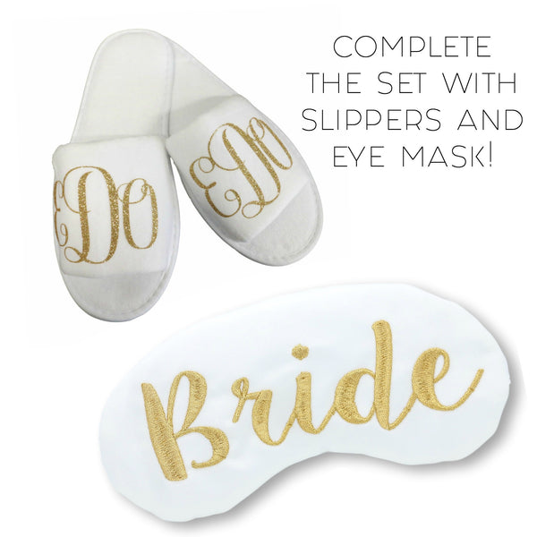 Personalized Kimono With Eye Mask & Slippers Gift Set