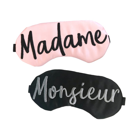 Madame Monsieur Sleep Mask Set