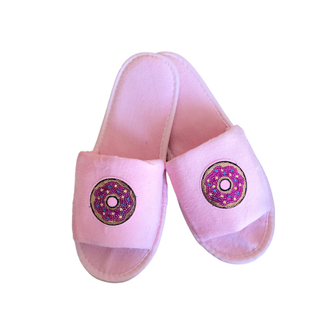 Sweet Pink Donut Slippers