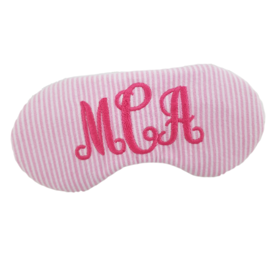 Personalized Seersucker Sleep Mask