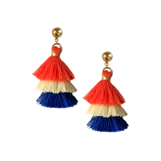 Game Day Mini Tassel Earrings