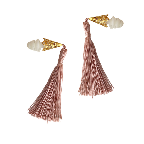 Dusty Rose Tassel Earplugs