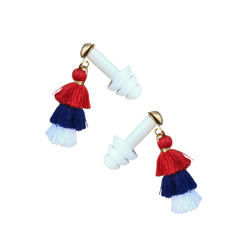 Patriotic Mini Pagoda Tassel Earplugs