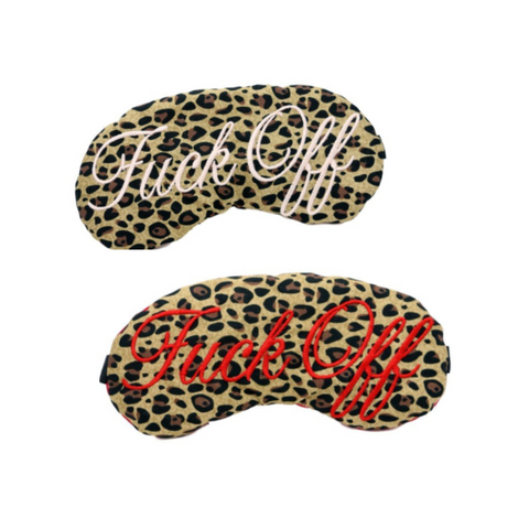LEOPARD FUCK OFF SLEEP MASK