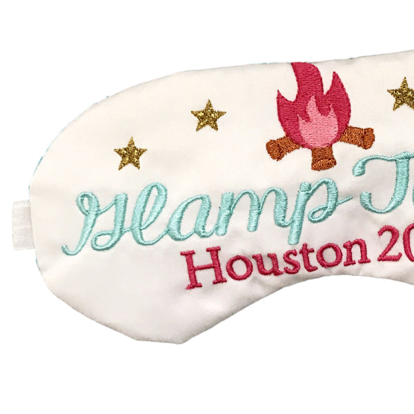 Personalized Glamping Eye Mask Party Favors