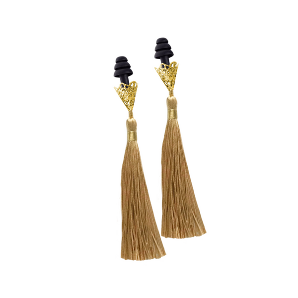 Breakfast At Tiffany's Inspired Golden Tassel Sleeping Earplugs