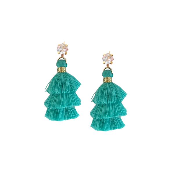 GOLIGHTLY MINI PAGODA TASSEL EARRINGS