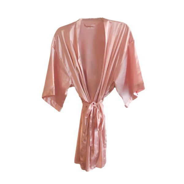 YOU HAD ME AT ROSE' SATIN KIMONO ROBE
