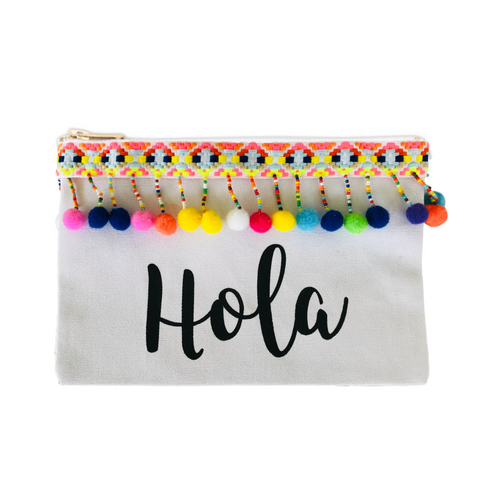 Hola Pom Pom Cosmetic Bag