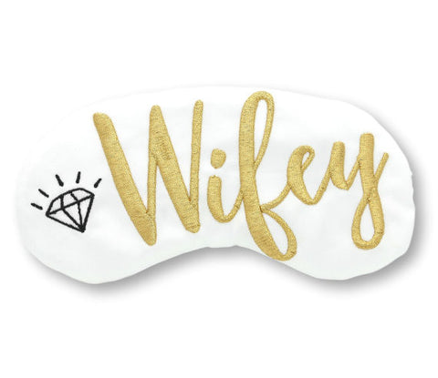 WIFEY EYE MASK WITH DIAMOND