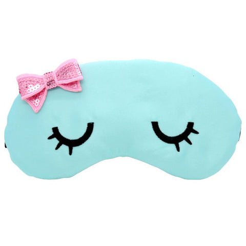 SWEET KAWAII EYES - BLUE WITH PINK BOW